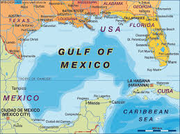 map of the gulf of mexico map of gulf of mexico mexico usa map in the atlas of the