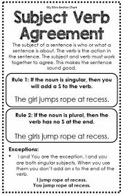 must know rules for subject u2013 verb agreement esl buzz