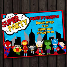 fast ship fast customized superhero invitation avengers