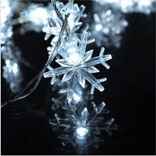 10m 50 led snowflake string lights new year
