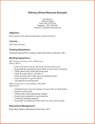 Welder Resume Objective Sample Resume For Driver Delivery Gallery Creawizard Com