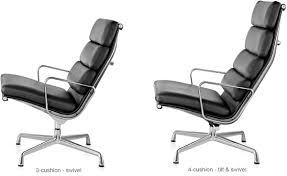 Leather Chair Cushions And Pads Eames Soft Pad Group Lounge Chair U0026 Ottoman Hivemodern Com