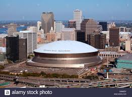mercedes dome orleans aerial of downtown orleans louisiana with the mercedes