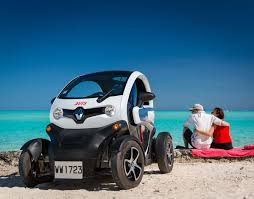 renault twizy blue avis bora bora car electric fun car moped and bike rental on