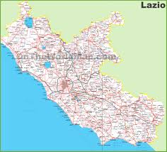 Map Of Rome Italy by Large Detailed Map Of Lazio With Cities And Towns