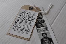 Making Your Own Wedding Invitations Photobooth And Brown Luggage Tag Wedding Invitations And How You