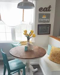 grey yellow teal modern kitchen and diy breakfast nook area