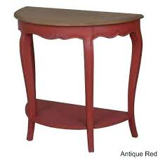 half moon table target red console table red console table target tables red console table