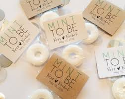 mint to be favors wedding mint lifesaver matchbook favors happily after