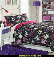 Monster High Bedroom Decorations Decorating Theme Bedrooms Maries Manor Skulls