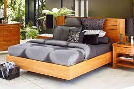 vision float rimu king bed frame by ezirest furniture harvey