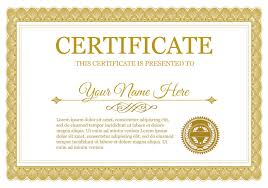 certificate of completion template psds certificate templates