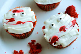 Halloween Red Velvet Cake by Fun Halloween Cupcakes
