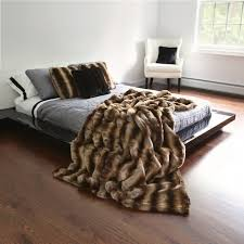 fur throws for sofas bed bath warm up your sofa bed and bed using faux fur throw
