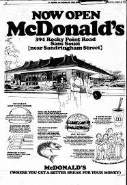 fab sydney flashbacks 1972 mcdonalds sans souci advert