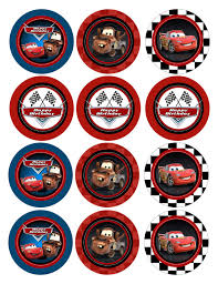 cars cake toppers instant non personalized birthday disney cars cupcake