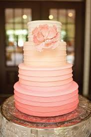 peach ombre wedding cake bowties and bourbon southern wedding inspiration southern wedding