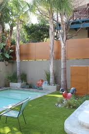 concrete wall fence with trees l andscape modern and contemporary