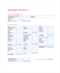 sample monthly budget 9 examples in pdf word excel