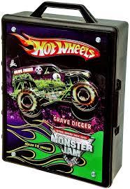 Monster Jam Rug Amazon Com Wheels Monster Jam 15 Truck Storage With Carrying