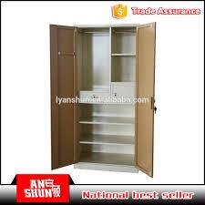 customized india clothes cabinet hanging steel wardrobe godrej
