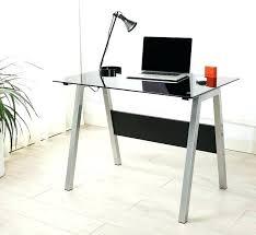 Small Metal Computer Desk Glass And Metal Computer Desk Tandemdesigns Co