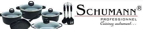 batterie de cuisine en schumann schumann professionnel poêles casseroles et batteries de