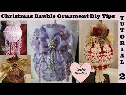and lavender 2 bauble ornament tutorial kit diy