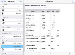 Small Business Balance Sheet Template Easy Books For Ios Easy Books