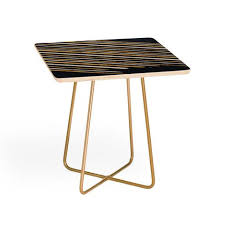 Navy Side Table Gold Side Tables Deny Designs