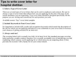 Sample Dietitian Resume by Dietician Cover Letters