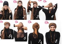 tutorial hijab turban untuk santai nice turban hijab style tutorial fashions pinterest turban