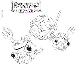 free coloring pages angry birds star wars coloring pages in