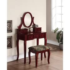 Makeup Vanity Table With Drawers Ashley Wood Makeup Vanity Table And Stool Set Free Shipping