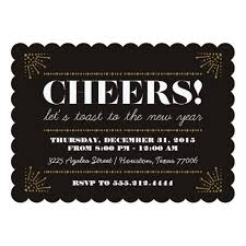 new year invitation card cheers deco fancy new years party invitation card