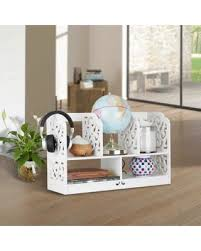 Corner Desk Organizer Deal Alert Finether Chic Wood Carving White Corner Desk Organizer