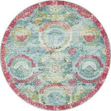 round turquoise area rugs pertaining to 7 and larger the home