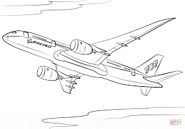 boeing 787 dreamliner coloring page free printable coloring pages