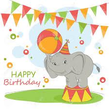 happy birthday elephant clipart clipartxtras