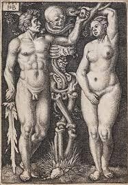 adam and eve with a skeleton by hans sebald beham on artnet