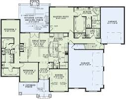 655799 1 story traditional 4 bedroom 3 bath plan with 3 car
