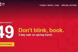 southwest sale book a southwest airlines 49 fare with this 3 day flash sale