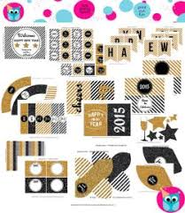 Happy New Year Decorations Printable New Year Eve Party Banner 2015 Diy Gold And White