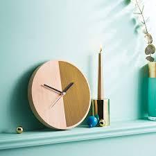 Wooden Wall Clock by Half Wooden Wall Clock By Byshop Notonthehighstreet Com
