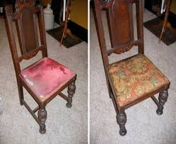 how to reupholster a dining room chair seat and back astounding