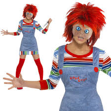 adults chucky childs play costume ladies fancy dress 8 to