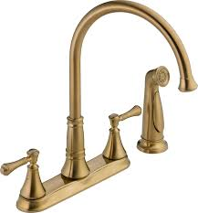 Bronze Faucet For Kitchen Delta Faucet 2497lf Cz Cassidy Two Handle Kitchen Faucet With