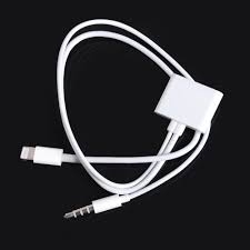 Pin 30 Black And White by 8 Pin To 30 Pin Audio Adapter For Apple Iphone 5 5s 6 Ipad Mini