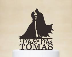 batman wedding cake toppers wedding cake toppercustom cake topper by acrylicdesignforyou