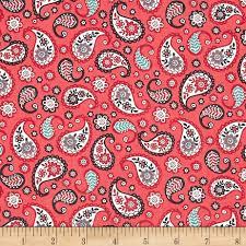 Paisley Home Decor Papillon Paisley Red Discount Designer Fabric Fabric Com